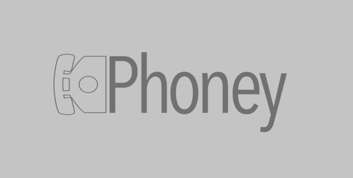 image of phone; Phoney logo